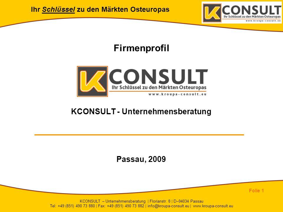 Firmenprofil KCONSULT - Unternehmensberatung