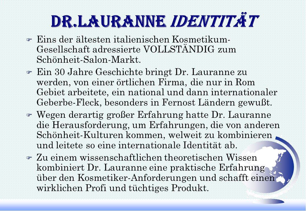 Dr.Lauranne Identität Eins der ältesten italienischen Kosmetikum-Gesellschaft adressierte VOLLSTÄNDIG zum Schönheit-Salon-Markt.