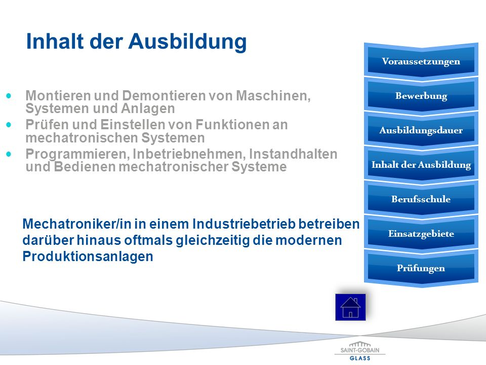 Inhalt der Ausbildung Voraussetzungen. Montieren und Demontieren von Maschinen, Systemen und Anlagen.