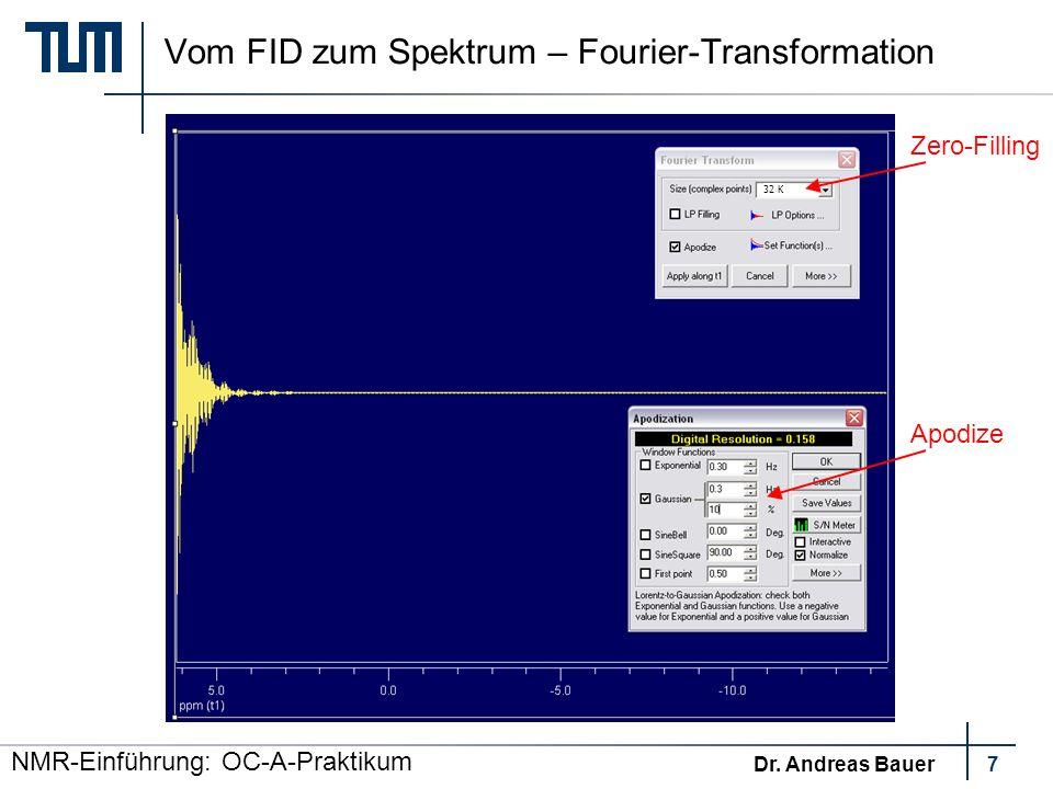 Vom FID zum Spektrum – Fourier-Transformation