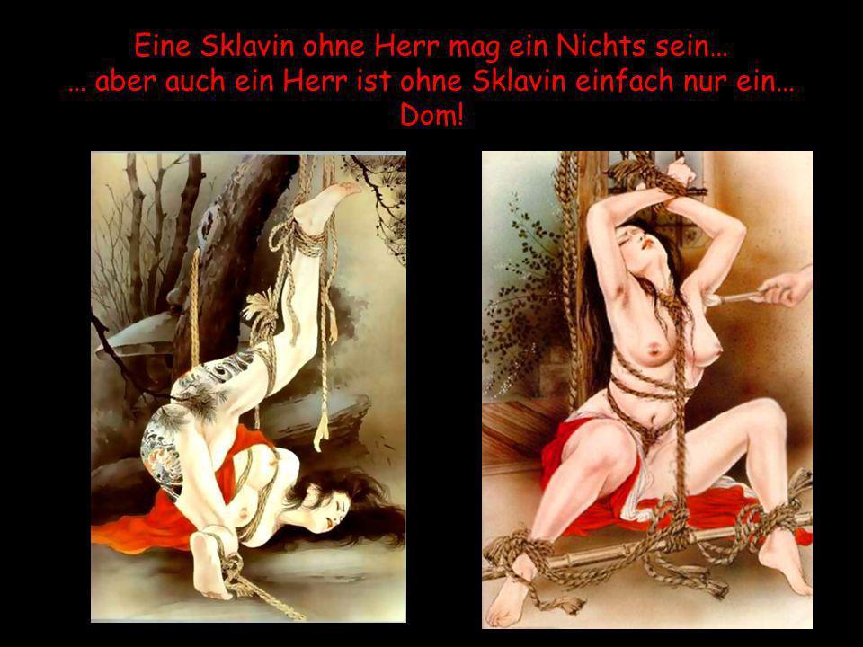 Eine Sklavin ohne Herr mag ein Nichts sein… … aber auch ein Herr ist ohne Sklavin einfach nur ein… Dom!