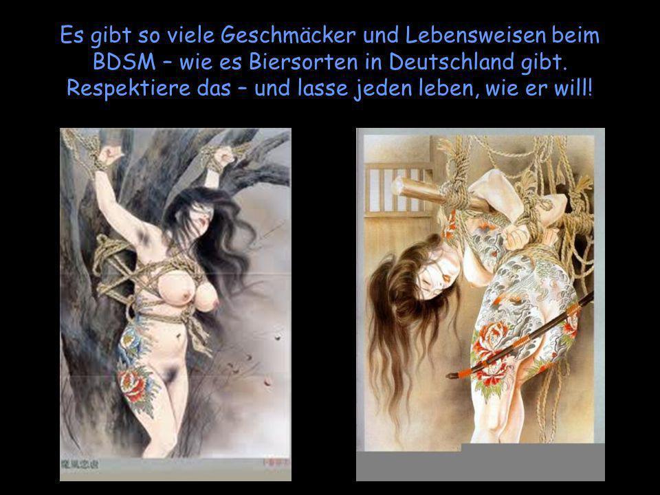 Es gibt so viele Geschmäcker und Lebensweisen beim BDSM – wie es Biersorten in Deutschland gibt.