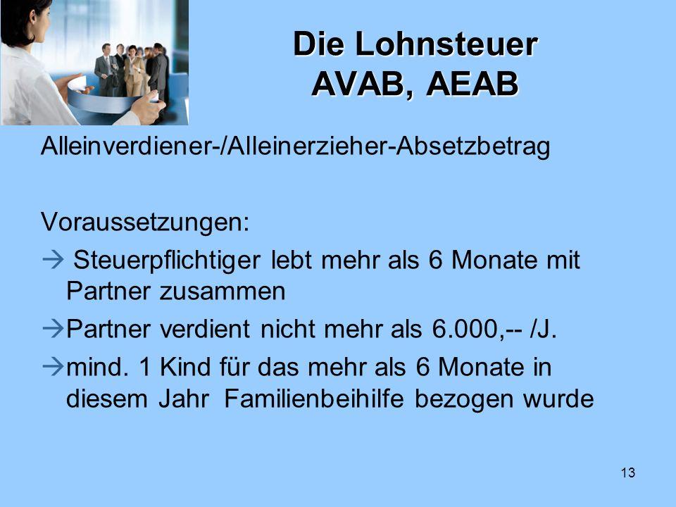 Die Lohnsteuer AVAB, AEAB