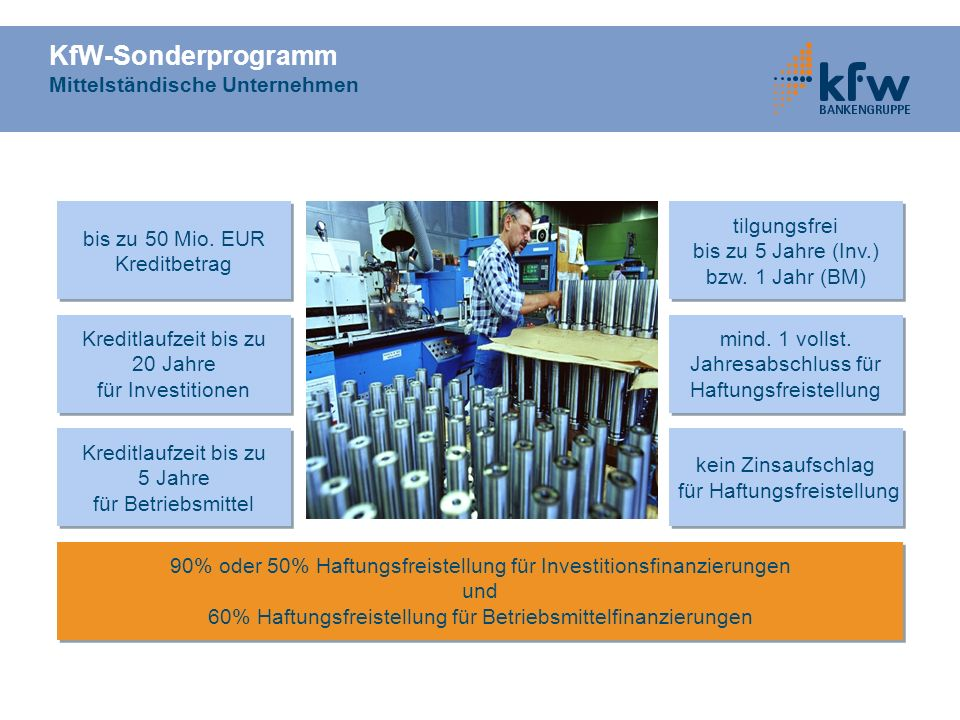 KfW-Sonderprogramm Mittelständische Unternehmen