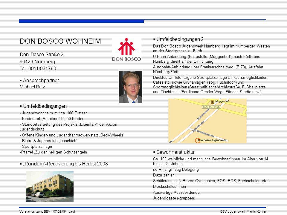 DON BOSCO WOHNEIM Umfeldbedingungen 2 Don-Bosco-Straße 2