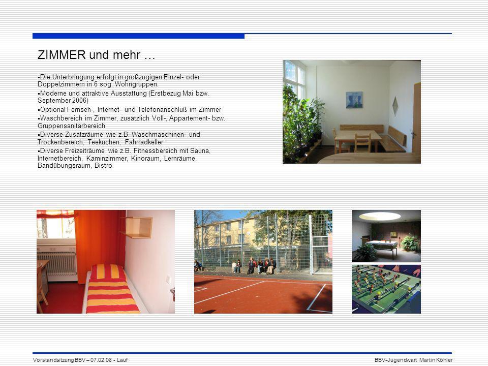 ZIMMER und mehr … Die Unterbringung erfolgt in großzügigen Einzel- oder Doppelzimmern in 6 sog. Wohngruppen.