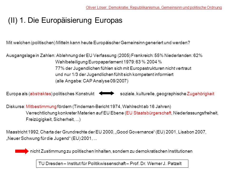 (II) 1. Die Europäisierung Europas