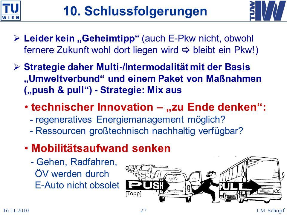 """10. Schlussfolgerungen Leider kein """"Geheimtipp (auch E-Pkw nicht, obwohl fernere Zukunft wohl dort liegen wird  bleibt ein Pkw!)"""