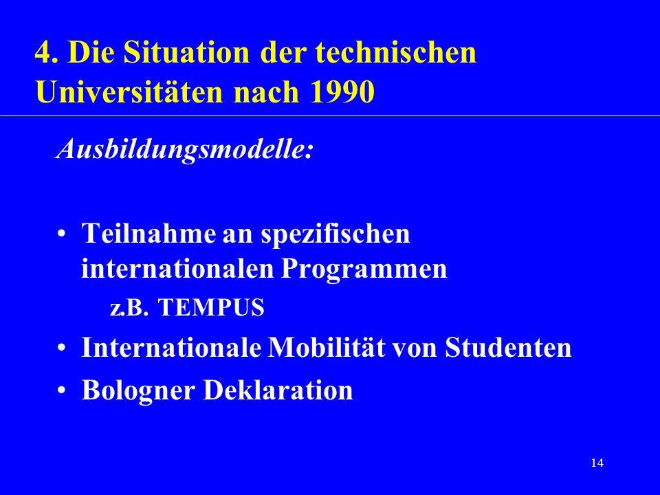 4. Die Situation der technischen Universitäten nach 1990