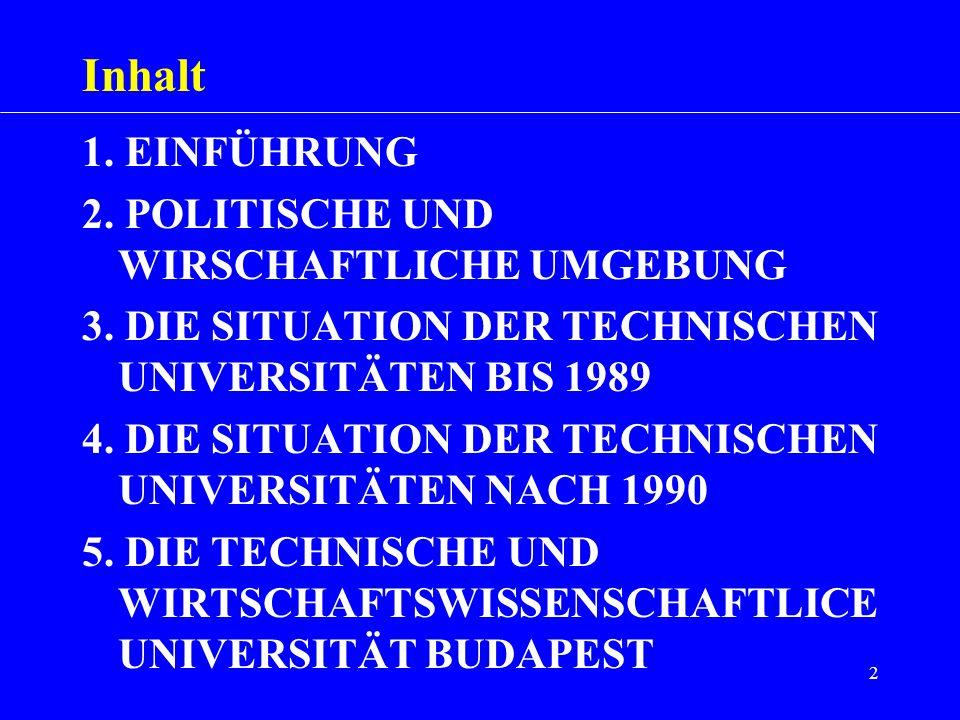 Inhalt 1. EINFÜHRUNG 2. POLITISCHE UND WIRSCHAFTLICHE UMGEBUNG