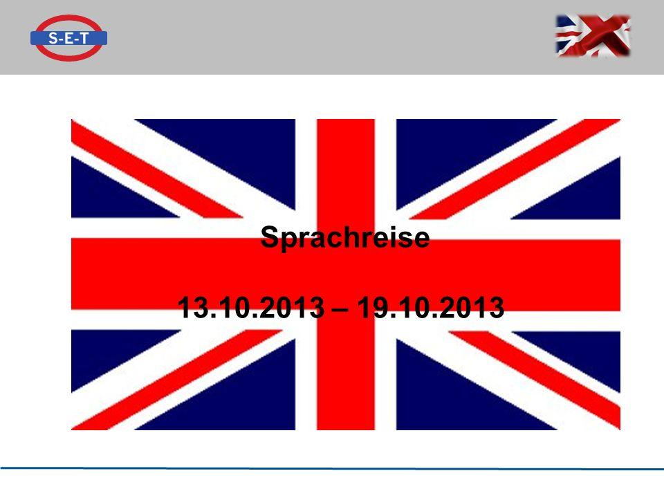 Sprachreise 13.10.2013 – 19.10.2013
