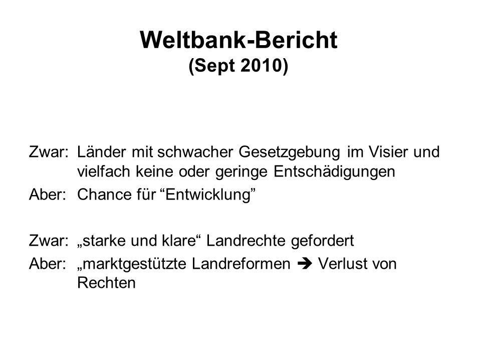 Weltbank-Bericht (Sept 2010)