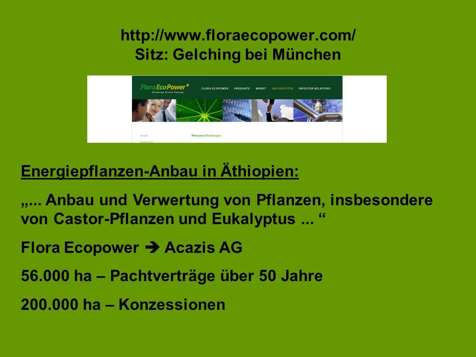 http://www.floraecopower.com/ Sitz: Gelching bei München