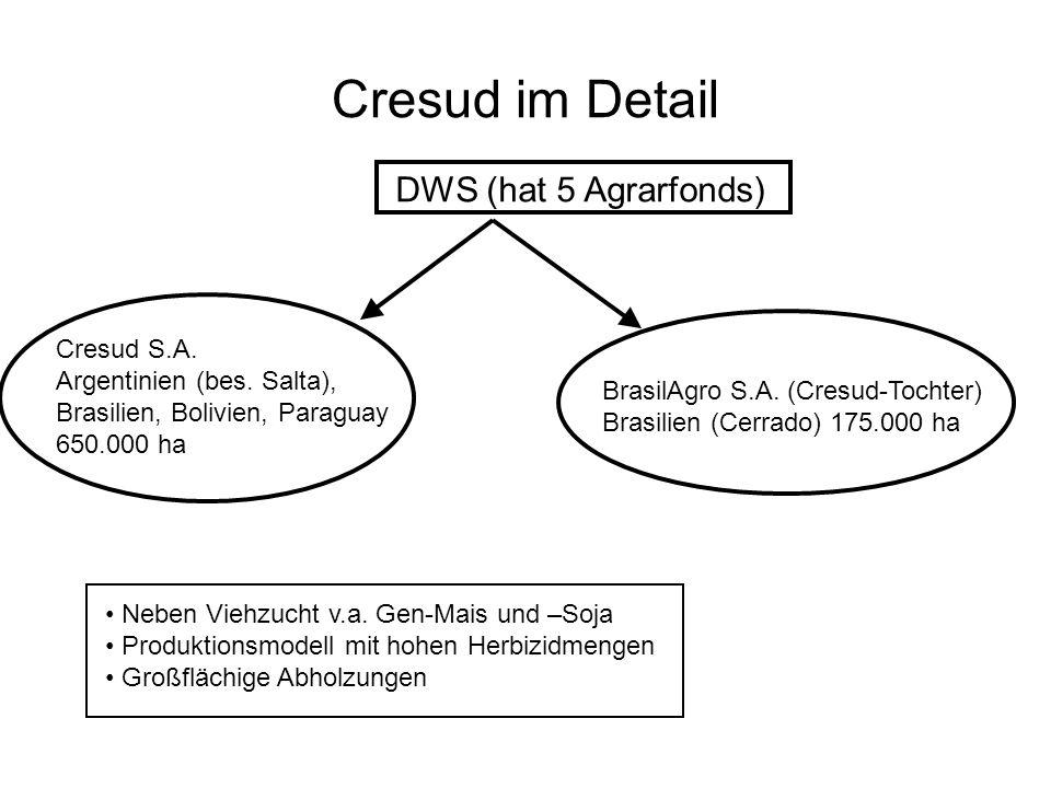 Cresud im Detail DWS (hat 5 Agrarfonds) Cresud S.A.