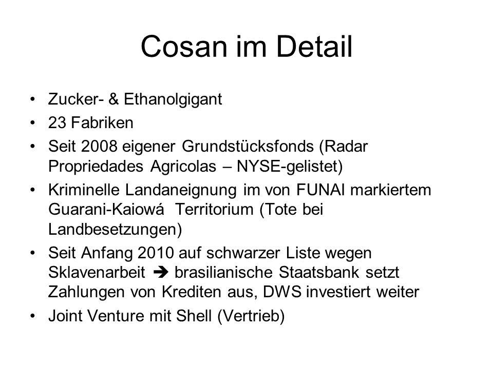 Cosan im Detail Zucker- & Ethanolgigant 23 Fabriken