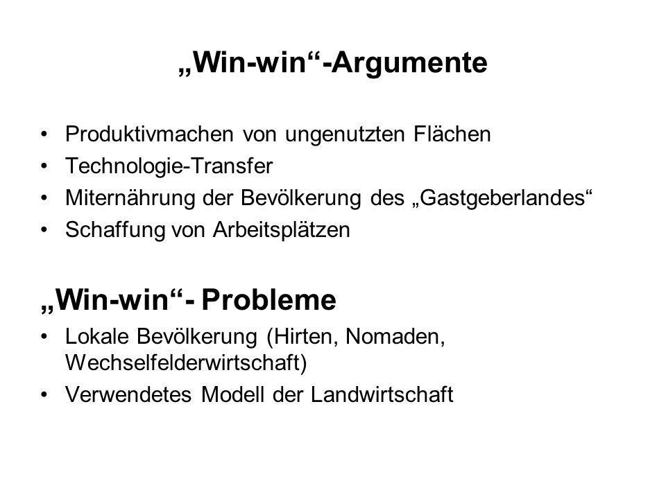 """""""Win-win -Argumente """"Win-win - Probleme"""