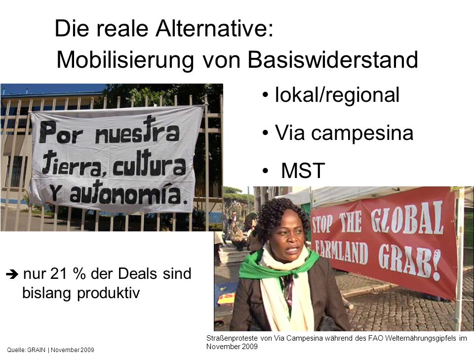 Die reale Alternative: