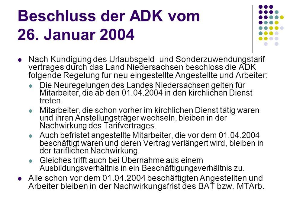 Beschluss der ADK vom 26. Januar 2004