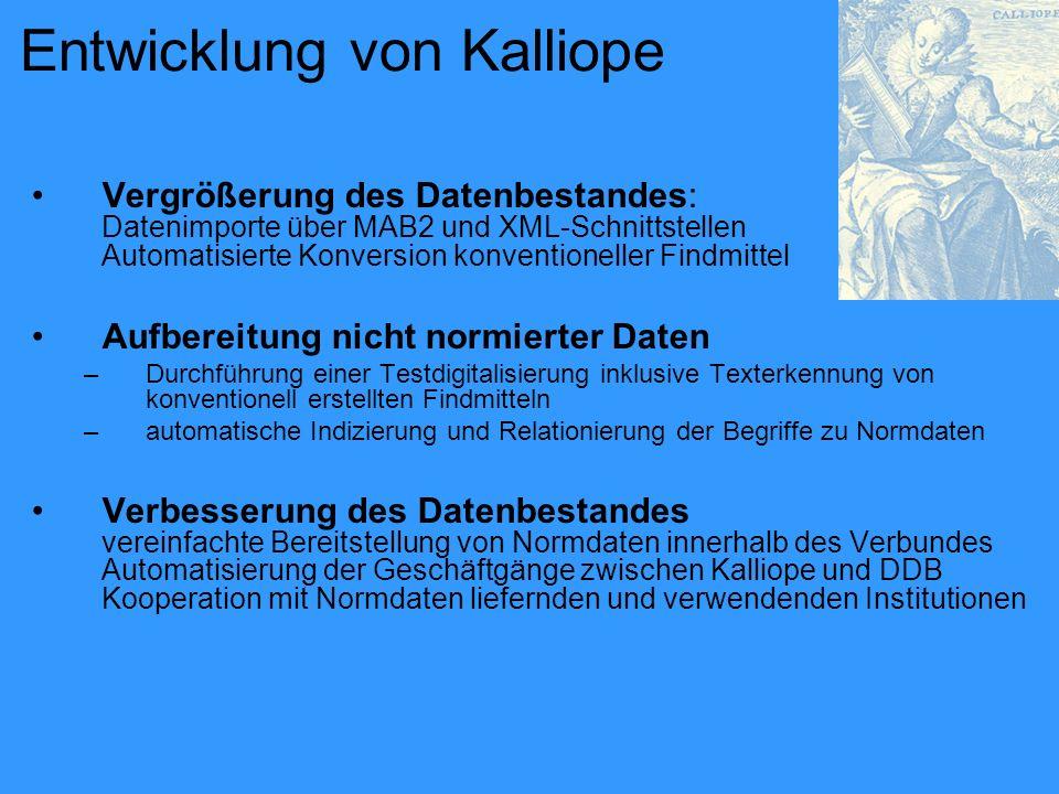 Entwicklung von Kalliope
