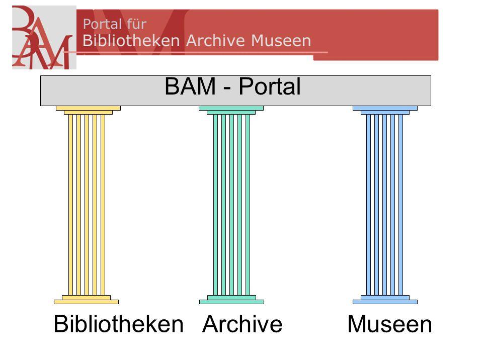 Bibliotheken Archive Museen BAM - Portal