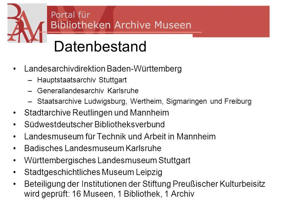 Datenbestand Landesarchivdirektion Baden-Württemberg