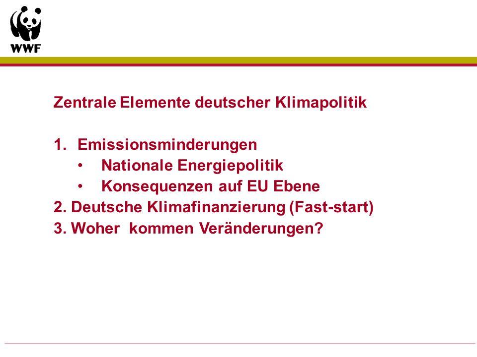 Zentrale Elemente deutscher Klimapolitik