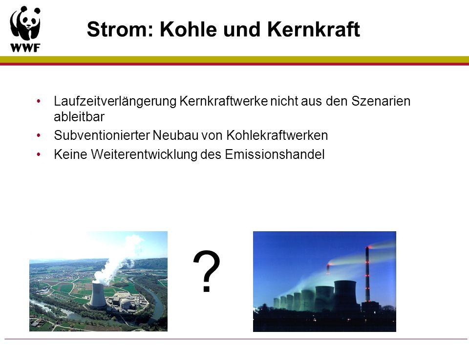 Strom: Kohle und Kernkraft