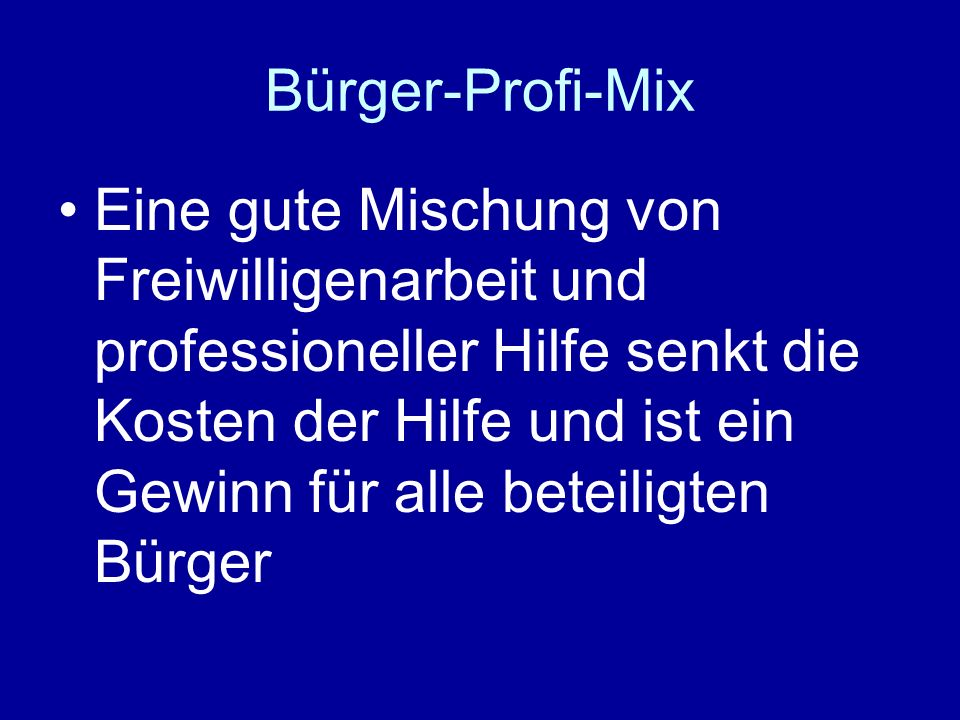 Bürger-Profi-Mix