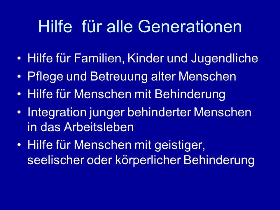 Hilfe für alle Generationen