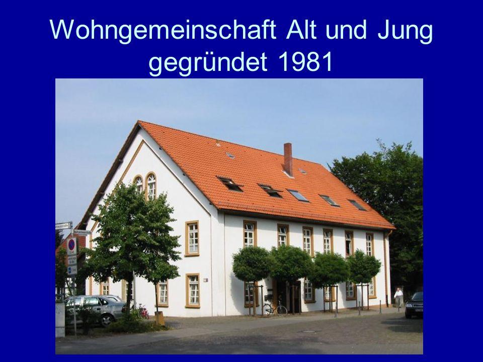 Wohngemeinschaft Alt und Jung gegründet 1981