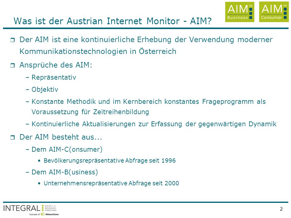 Was ist der Austrian Internet Monitor - AIM
