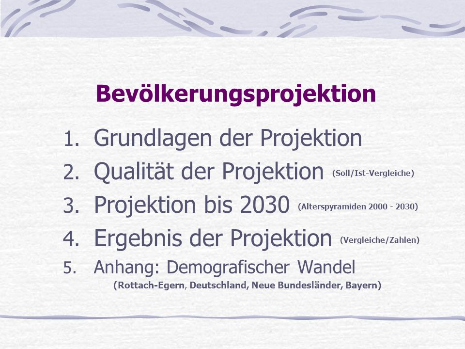 Bevölkerungsprojektion