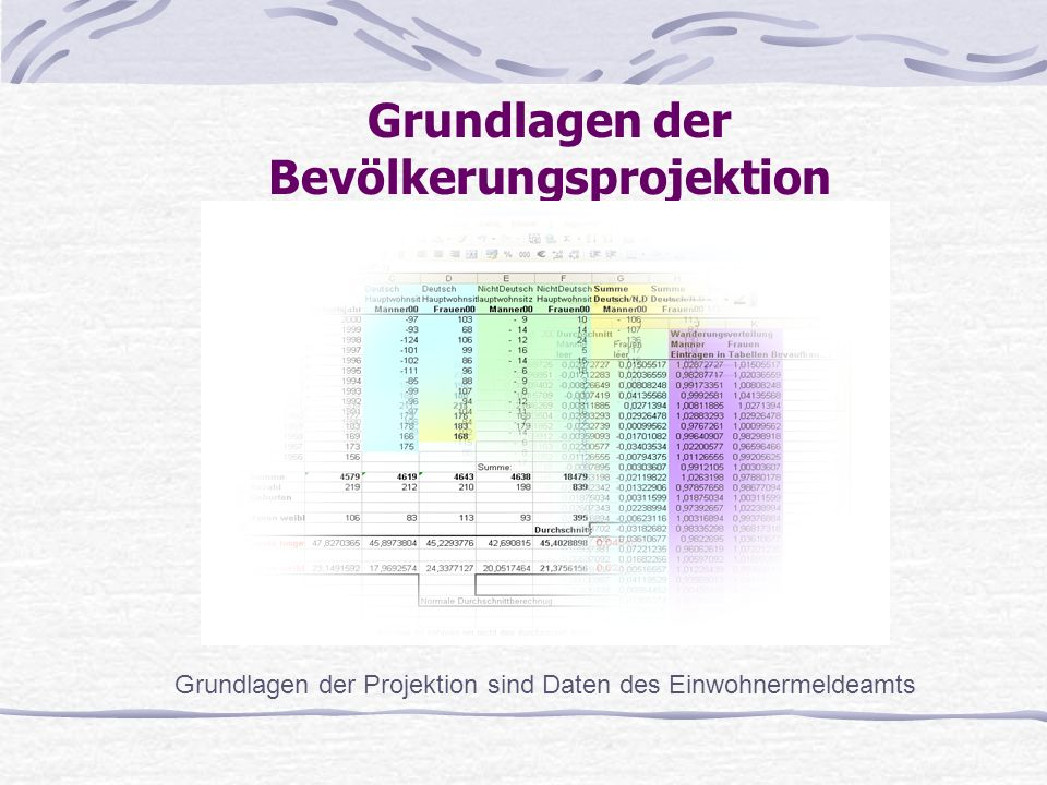 Grundlagen der Bevölkerungsprojektion
