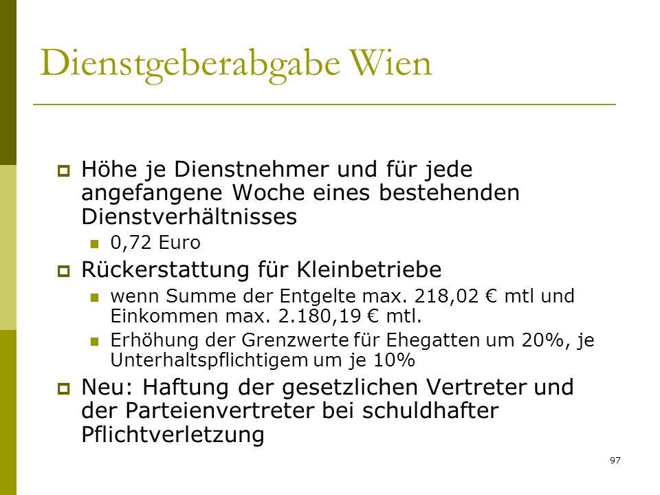 Dienstgeberabgabe Wien