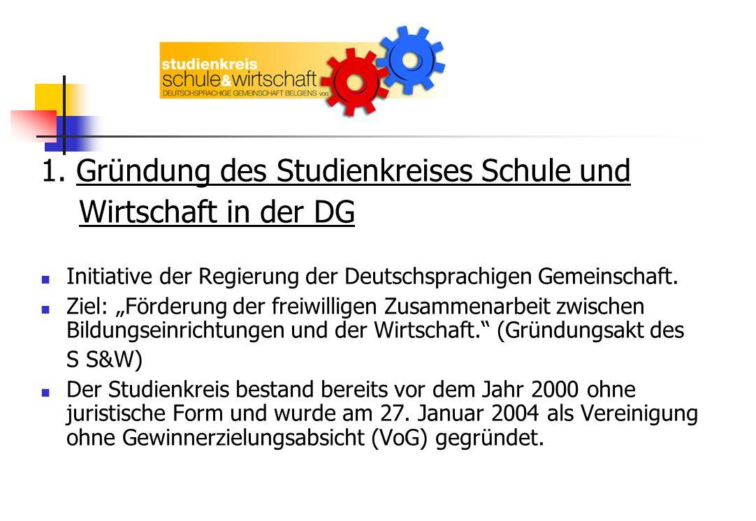 1. Gründung des Studienkreises Schule und Wirtschaft in der DG