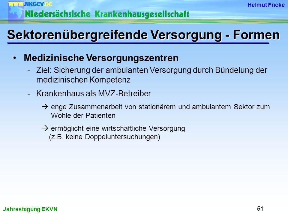 Sektorenübergreifende Versorgung - Formen