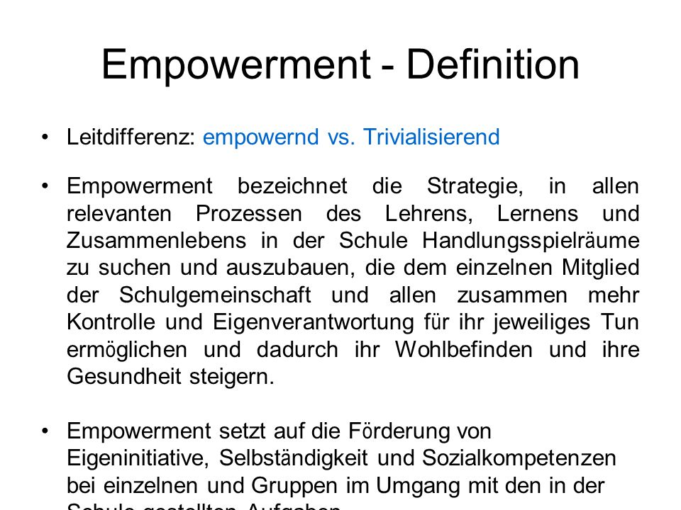 Empowerment - Definition