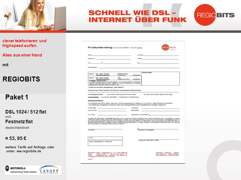 betterCALL REGIOBITS Paket 1 DSL 1024 / 512 flat Festnetz flat