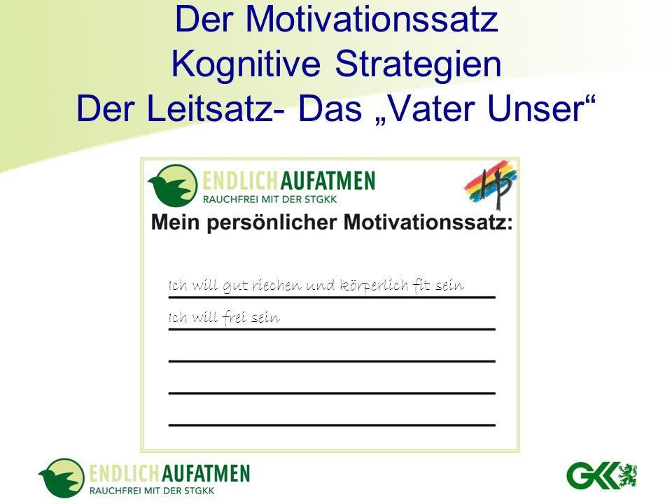 """Der Motivationssatz Kognitive Strategien Der Leitsatz- Das """"Vater Unser"""