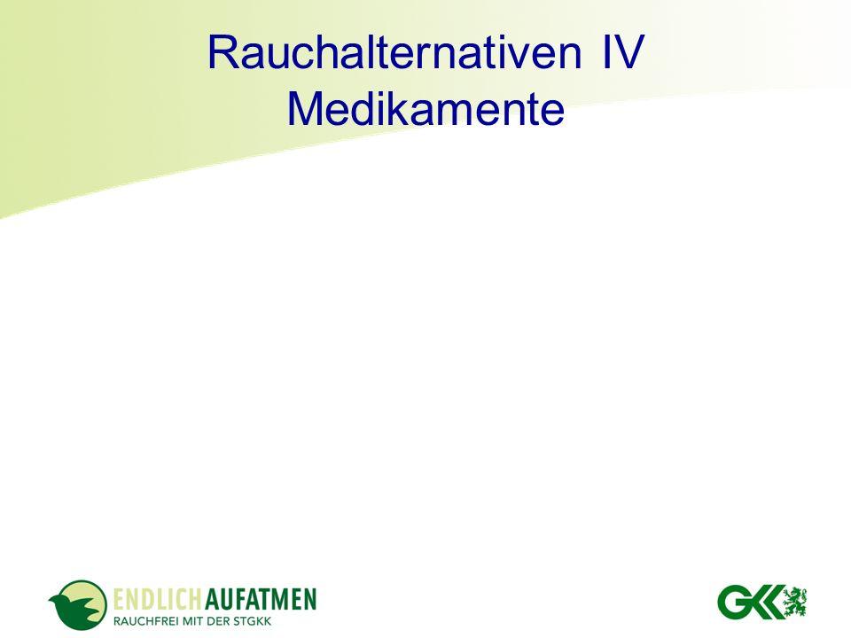 Rauchalternativen IV Medikamente