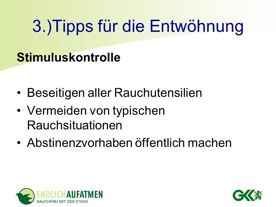 3.)Tipps für die Entwöhnung