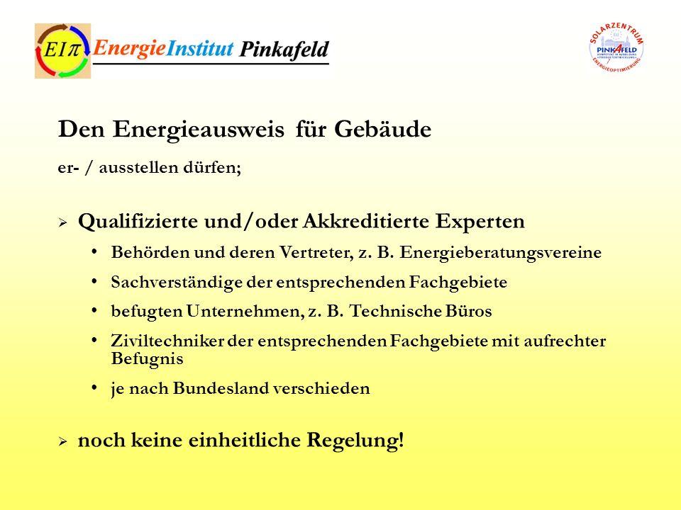 Den Energieausweis für Gebäude
