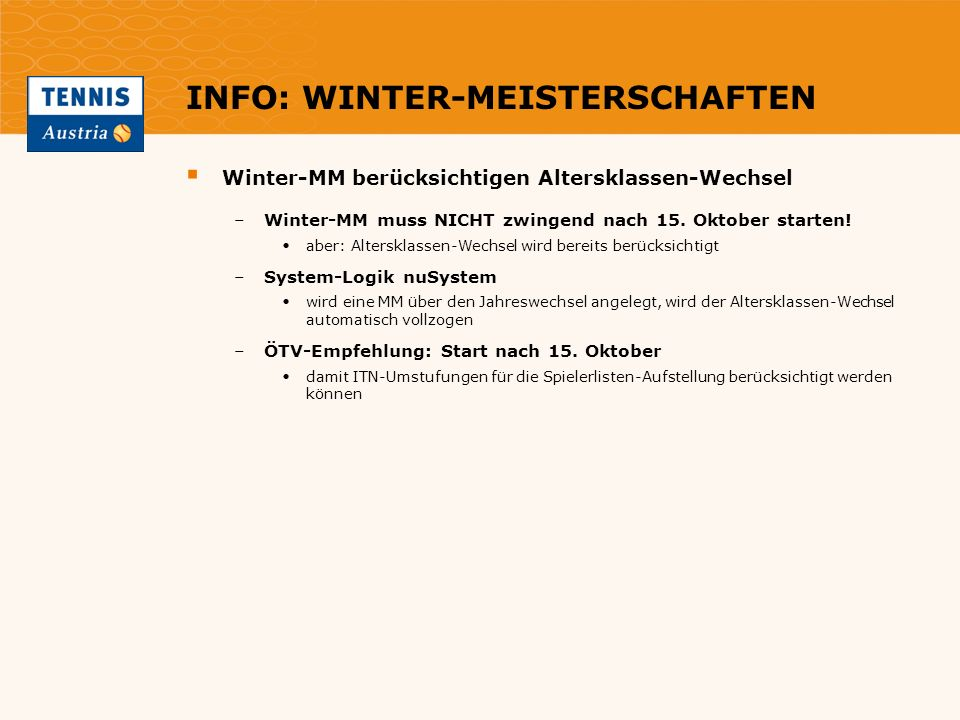 INFO: WINTER-MEISTERSCHAFTEN