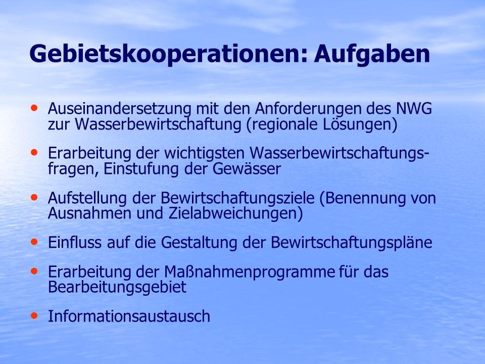 Gebietskooperationen: Aufgaben
