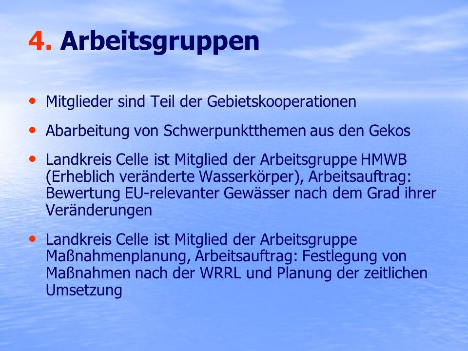 4. Arbeitsgruppen Mitglieder sind Teil der Gebietskooperationen