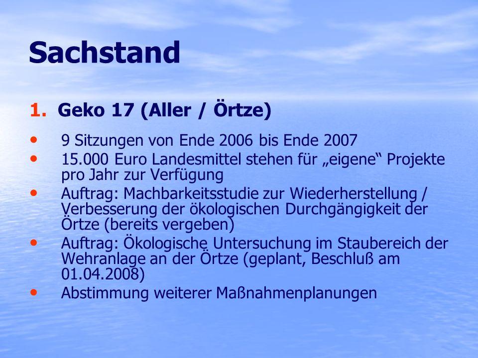 Sachstand 1. Geko 17 (Aller / Örtze)