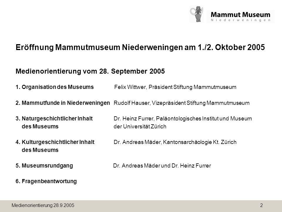 Eröffnung Mammutmuseum Niederweningen am 1. /2