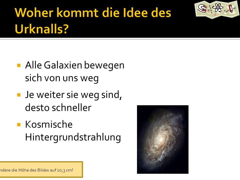 Alle Galaxien bewegen sich von uns weg