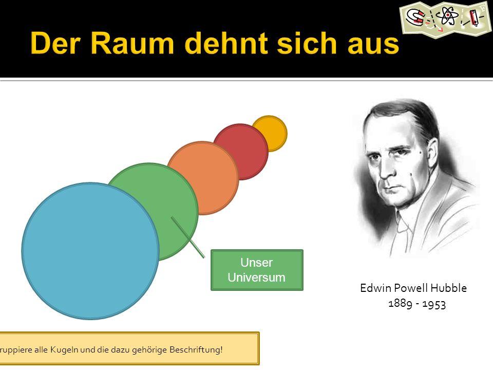 Der Raum dehnt sich aus Unser Universum Edwin Powell Hubble