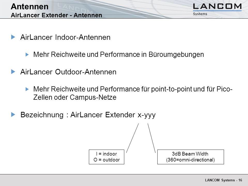 Antennen AirLancer Extender - Antennen